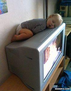 Little guy love the tv...