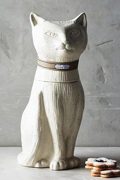 Contented Cat Cookie Jar - anthropologie.com