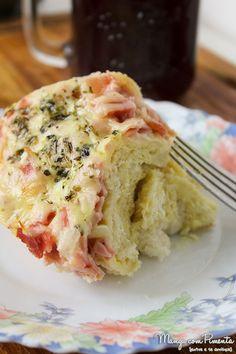Torta de Pão Francês - Lanche