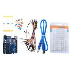 Uno R3 Development Board Starter Kit Basic Kit For Arduino Diy. Arduino UNO R3 Development Kits  is available now from our US  warehouse  	 	Free shipping to US  in 3-6 business days 	ship to Canada, Brazil in 7-10 days 	 	 	UNO R3 Development Board Starter Kit Basic Kit For Arduino DIY 	 	Description: 	 	This Starter Kit is based on UNOS R3 development board. It includes the most basic component, such as bread board, breadboard wires, LED lights, resistance. 	 	Package included: 	 	1 x…
