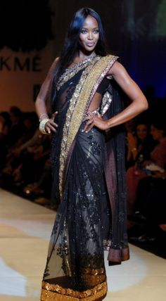 Naomi Campbell steals the show in Indian debut for fashion week charity event