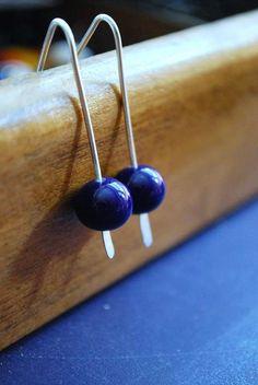 Cobalt Blue Sterling Silver Earrings