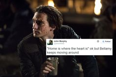 The 100 and Twitter || John Murphy || Tumblr - willblogforrationpoints || Richard Harmon || Murphamy