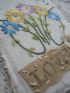 fabric stitched and embroidered by Carol Brungar