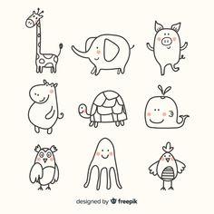 Animal Cute Collection Flat Design