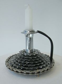 recycled bike parts by William Rudolph - For more great pics, follow www.bikeengines.com
