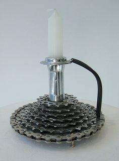 recycled bike parts by William Rudolph! www.argylefineart.com