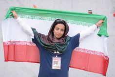 Abdollah Khani, Zohreh - Iranian ice climber - First Iranian female to win an international ice climbing medal 0
