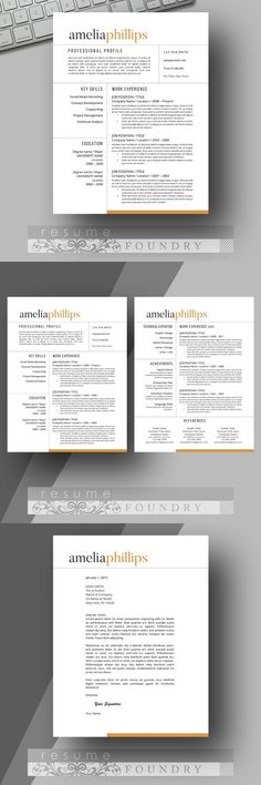 Unique, eye-catching resume template Professional and creative - eye catching resume templates
