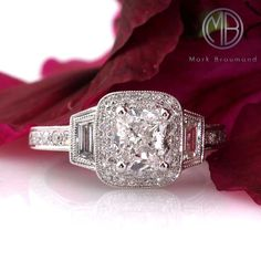 Markbroumand.com #2819-1  http://www.markbroumand.com/2.40ct-cushion-cut-diamond-engagement-anniverary-ring-2819-1d8246752/