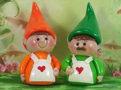 Elf for Fairy Gardens OOAK cake topper, ornament