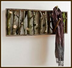 Twig coat rack.