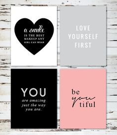 Love Yourself Free Printable Wall Art                                                                                                                                                                                 More