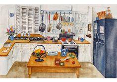 インテリア・イラスト : 水彩イラスト 川副美紀 MIKI KAWAZOE Illustrations (watercolor)