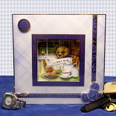 It's a Man's World by Hunkydory Crafts. Card made using 'Good Morning Mr Bear' topper set http://www.hunkydorycrafts.co.uk/acatalog/Good-Morning-Mr-Bear-Individual-Topper-Set-WORLD906.html#SID=53