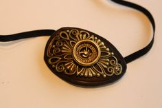 steampunk leather eyepatch by steampunkleatherwork on Etsy,