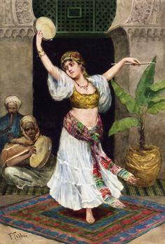 The Tambourine Dancer Artwork By Fabio Fabbi Oil Painting & Art Prints On Canvas For Sale Italian Painters, Italian Artist, Tribal Fusion, Dance Oriental, Spanish Gypsy, Local Art Galleries, Ballet Russe, Gypsy Girls, The Dancer
