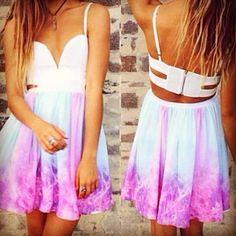 Galaxy Skater Dress #dress #galaxy #cute