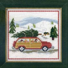 Items similar to Mill Hill Kit - FAMILY TREE - Button & Bead Beaded Christmas Counted Cross Stitch Kit family car holiday christmas tree needlework kit on Etsy Santa Cross Stitch, Cross Stitch Tree, Beaded Cross Stitch, Cross Stitch Samplers, Counted Cross Stitch Patterns, Cross Stitching, Cross Stitch Embroidery, Embroidery Art, Merry Christmas