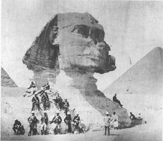 One of the oldest photos of the Great Sphinx, from 1880