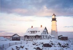 Winter by the sea ~ Gives me a lot of ideas for a tiny house.