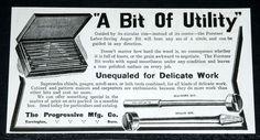 1910 OLD MAGAZINE PRINT AD, PROGRESSIVE CO, FORSTNER AUGER BITS!