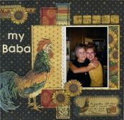 Connie Nichol's design based on our July 2013 Sketchy Challenge #scrapbooking #scrapbook #layout #sketch