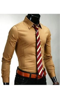 Mens slim fit button up