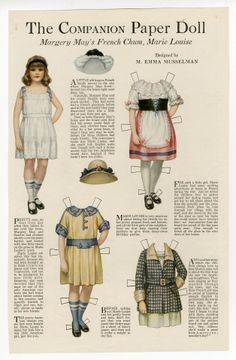 77.204: Margery May's French Chum, Marie Louise | paper doll | Paper Dolls | Dolls | National Museum of Play Online Collections | The Strong...