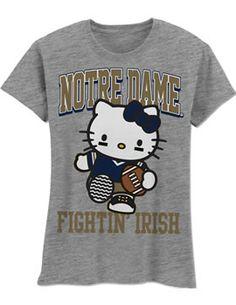 Product: Girl's Notre Dame Fighting Irish Football T-Shirt