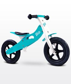 Bicicleta de madera sin pedales Velo Toyz aqua [VELO AQUA] | 69,00€ : La tienda online para tu peke | tienda bebe pekebuba.com