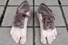 20 Of The Weirdest Shoes, Ever #refinery29 http://www.refinery29.com/20-of-the-weirdest-footwear-we-could-find#slide9 Human Foot Shoe—We can't even look at these without dying a little on the inside.