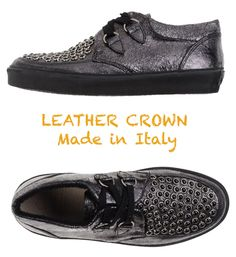 $298 LEATHER CROWN HANDMADE IN ITALY WOMEN'S  WEDGE PLATFORM SNEAKERS. SZ 38/8M #LeatherCrown #Fashionsneakers