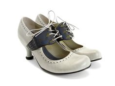 mollie johnson fluevog shoes in light grey and blue. swoon.
