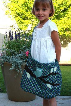 Make your own messenger school bag for kids :)