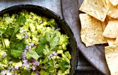 Celery Spiked Guacamole with Chiles - Bon Appétit