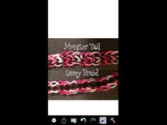 New! Rainbow Loom Monster Tail Lacey Braid Bracelet