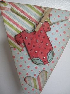 Vintage Baby Banner using Everyday Enchantment Designer Series Paper from Stampin' Up!
