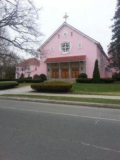 Pink church Pittsfield,  Massachusetts