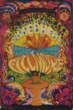 Canned Heat  .... Gordon Lightfoot .... Cold Blood ..... 10/3 - 5/ 1968 ...... Fillmore concert poster .... artist ....  LEE CONKLIN