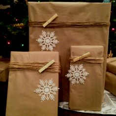 My gift wrapping theme this year!! Almost done.