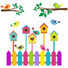 Decoration Creche, Class Decoration, School Decorations, Bird Crafts, Diy And Crafts, Crafts For Kids, School Painting, Painting For Kids, Art Wall Kids