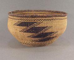 Creek Indian Twined Basket Bowl Yurok HUPA