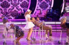 Wk 5 (Switch-Up) Lea & Val danced Broadway Scored: 9+8+8+9=34