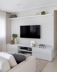 Living Pequeños, Home Living Room, Living Room Decor, Living Room Ideas, Diy Room Decor, Living Area, Small Condo Decorating, Living Room Tv Unit Designs, Home Room Design