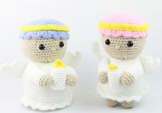 This is an entire FREE Christmas crochet set. Crochet Gratis, Diy Crochet, Crochet Toys, Crochet Christmas Decorations, Christmas Crochet Patterns, Angel Crochet Pattern Free, Free Pattern, Amigurumi Patterns, Lana