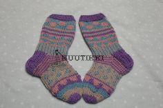 knitted girls, fairisle socks