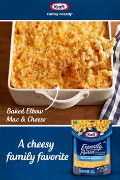 Make this delicious Kraft Elbow Mac and Cheese for a cozy family dinner. Tap the Pin to get the recipe. Kraft Recipes, New Recipes, Crockpot Recipes, Chicken Recipes, Cooking Recipes, Favorite Recipes, Macaroni Cheese Recipes, Macaroni And Cheese, Baked Macaroni