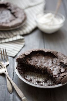 Easy chocolate brownie pie