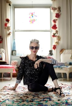At home with Linda Rodin.